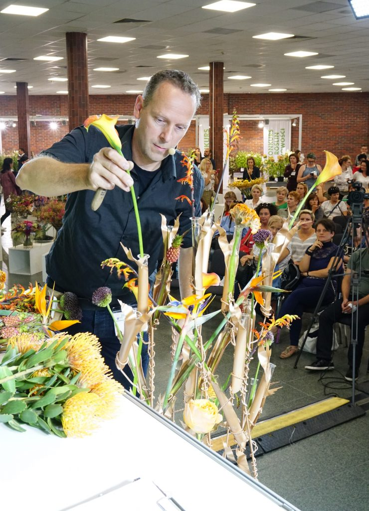 Flower Expo Poland 2019, Hans Zijlstra demo