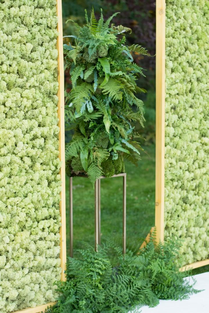 Air So Pure dekoracja ślubu rośliny doniczkowe Szkoła florystyczna Małgorzaty Niskiej